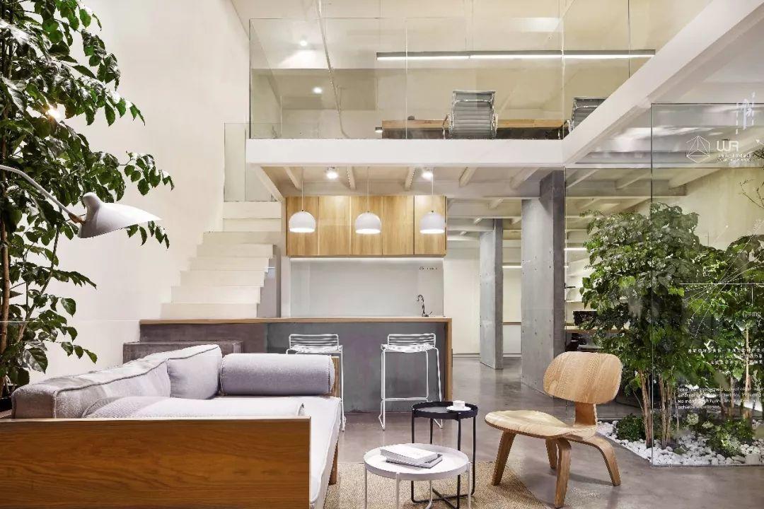 , 用水泥和竹子,他们把办公室打造成一个家